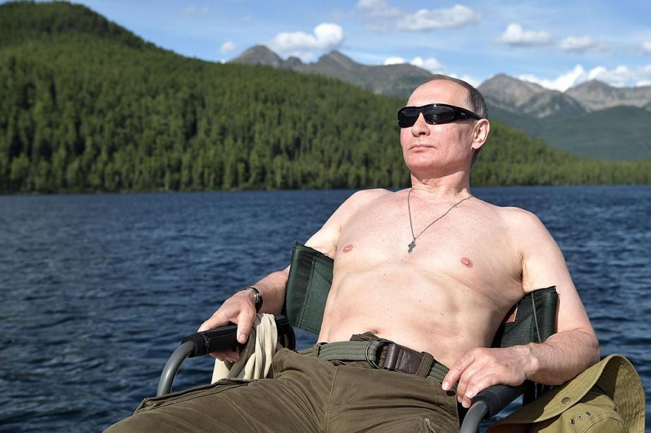 Le président russe Vladimir Putin a profité de... (PHOTO ALEXEY NIKOLSKY, AFP/SPUTNIK)