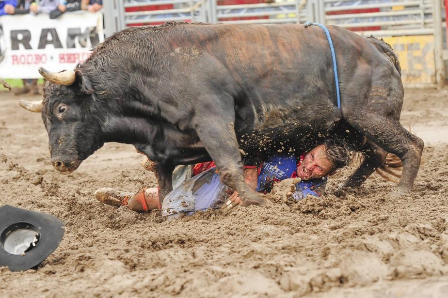 Les cowboys se retrouvent dans de facheuses positions. (Gimmy Desbiens)