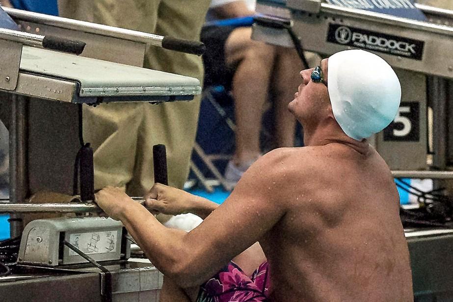 Ryan Lochtea pris le 5erang au 100m dos.... (Photo Richard T. Slattery, AP/Richard T. Slattery)