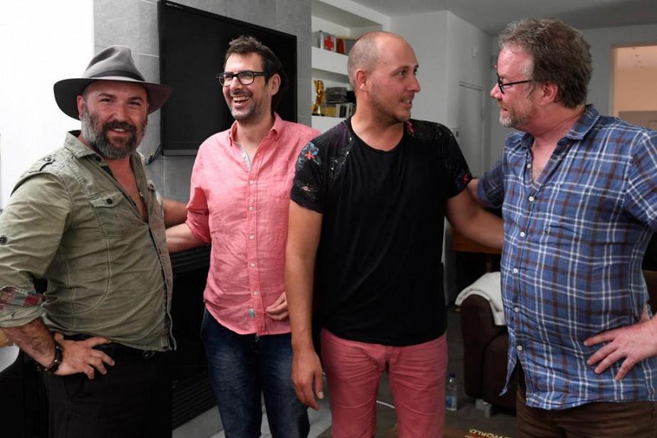 Éloi Painchaud, DJ Champion, Alex McMahon et Marc... (PHOTO BERNARD BRAULT, LA PRESSE)