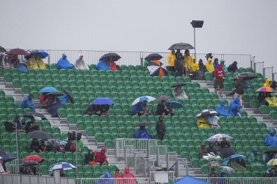La pluie a intimidé plusieurs amateurs de course qui ont préféré ne pas venir sur le site, samedi. | 6 août 2017