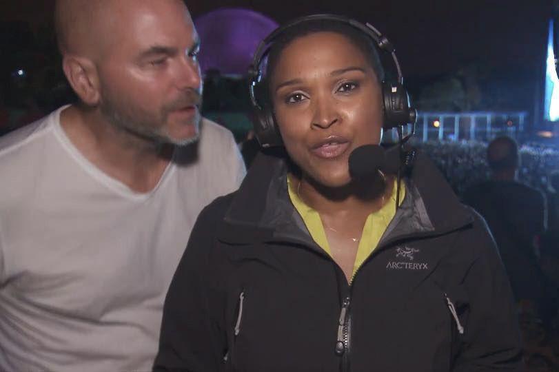 Alors qu'elle intervenait en direct à la télévision... (IMAGE TIRÉE DE FACEBOOK)