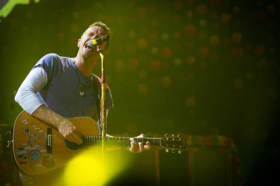 Le groupe britannique Coldplay était chaleureusement attendu par... (Photo Catherine Lefebvre, collaboration spéciale)