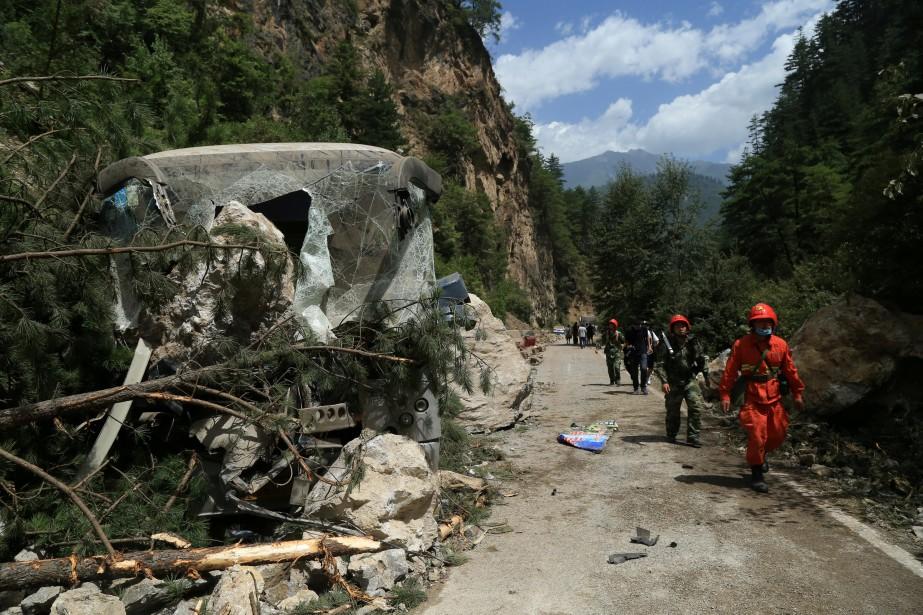Le tremblement de terre, d'une magnitude de 6,5,... (PHOTO REUTERS)