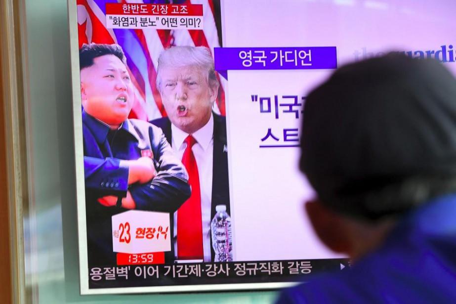 À Séoul, en Corée du Sud, une émission... (AFP, Jung Yeon-Je)