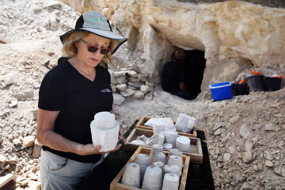 Lors de leurs fouilles, les archéologues ont retrouvé... (PHOTO AFP)