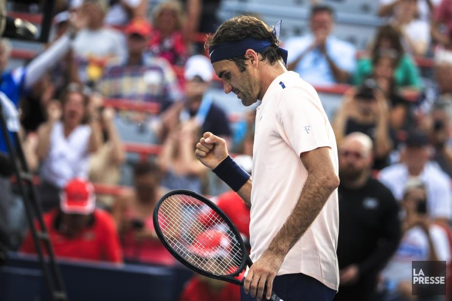 Roger Federer est revenu de l'arrière pour battre... (PHOTO OLIVIER PONTBRIAND, LA PRESSE)