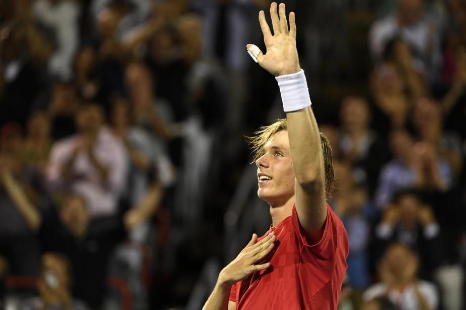 La réaction de Denis Shapovalov au terme de... (Photo Eric Bolte, USA TODAY Sports)