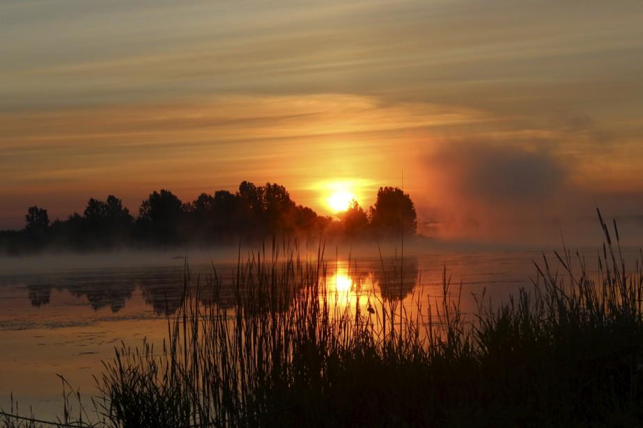 Un magnifique lever de soleil sur le lac Boivin à Granby.  Stephen Sullivan, Granby  | 11 août 2017