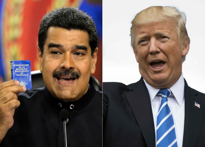 Le président vénézuélien Nicolas Maduro et son homologue... (PHOTOS ARCHIVES AFP)