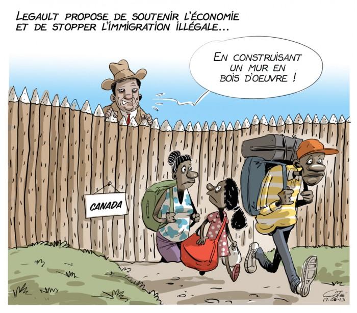 Caricature du 13 août (Le Soleil, André-Philippe Côté)