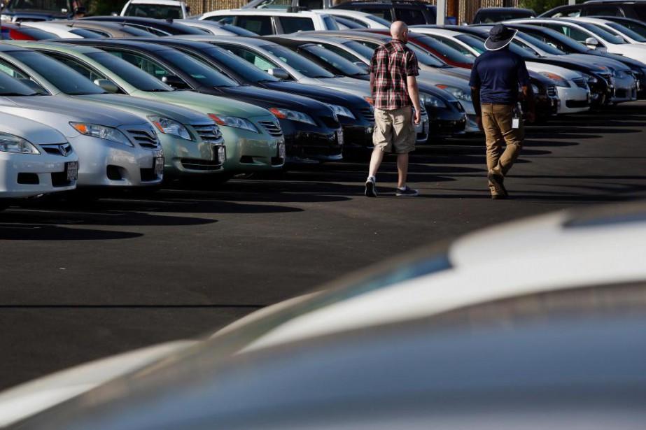 Les ventes de véhicules, encore vigoureuses en début... (photoPatrick T. Fallon, archivesBloomberg)