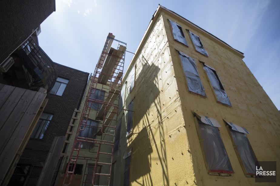 Accident de travailsur un chantier de construction dans... (Photo IVANOH DEMERS, LA PRESSE)