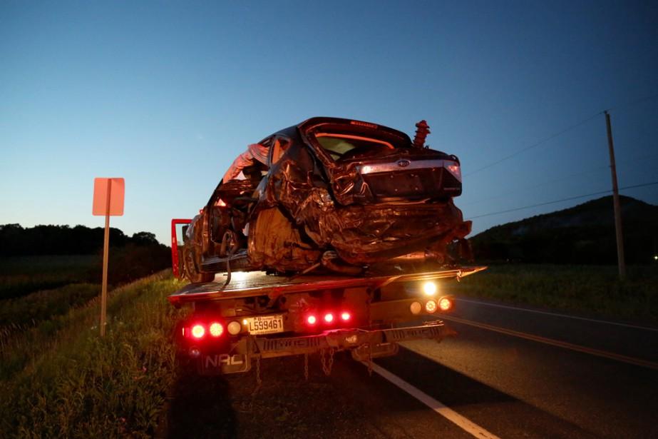 Une voiture a effectué des tonneaux à la suite d'un accident sur la route 139. | 14 août 2017