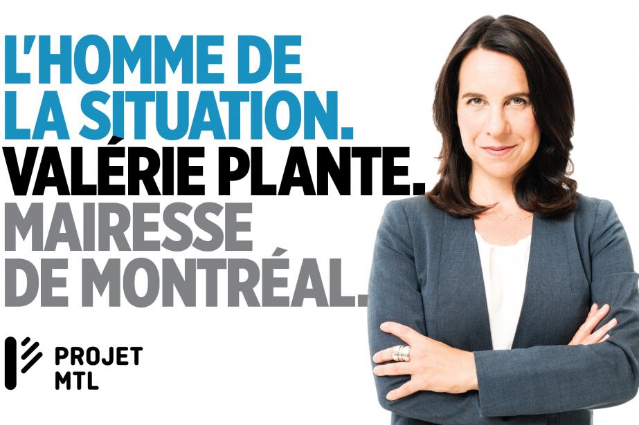 La publicité affichée près du métro Papineau est... (Photo Projet Montréal)
