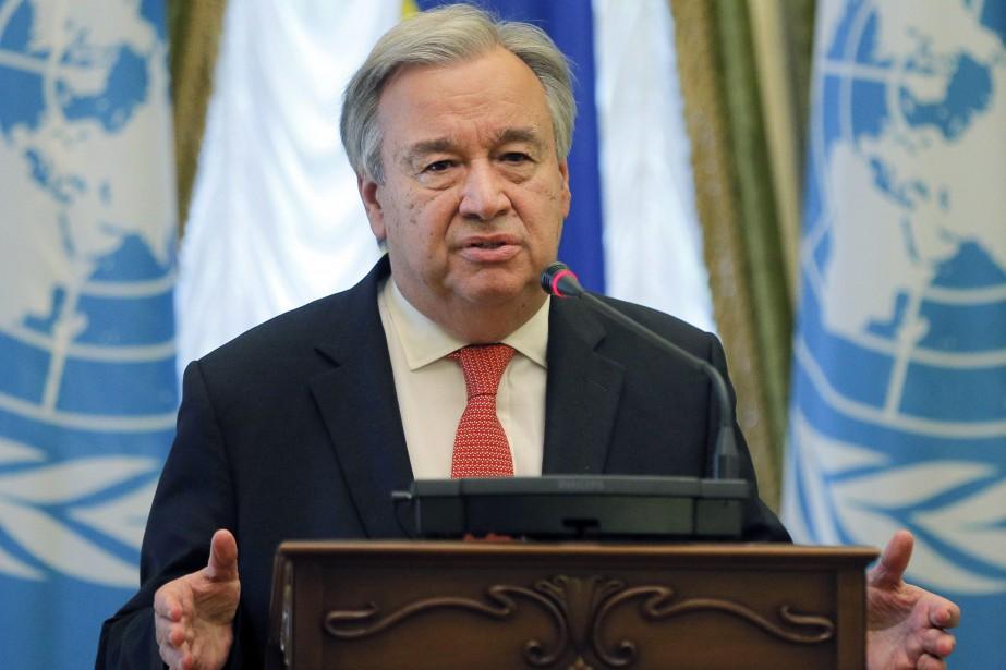 Le secrétaire général de l'ONU Antonio Guterresn'a pas... (Photo Efrem Lukatsky, AP)