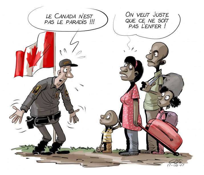Caricature du 17 août (Le Soleil, André-Philippe Côté)