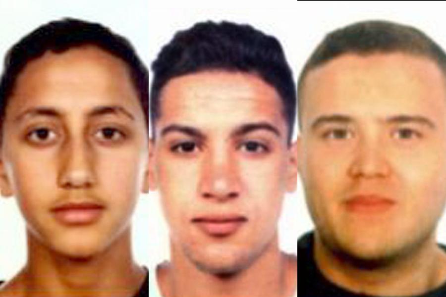 Moussa Oukabir, Saïd Aallaa et Mohamed Hychami... (Photos AFP)