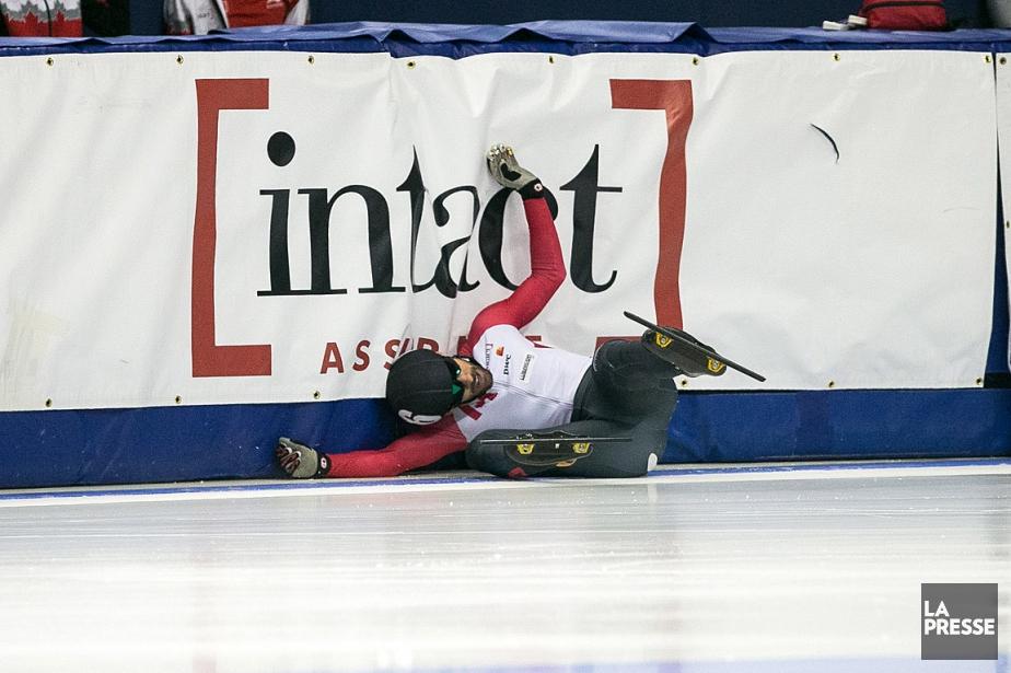 François Hamelin a été victime d'une mauvaise chute... (La Presse, Simon Giroux)