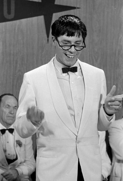 Dans le film <em>Docteur Jerry et Mister Love</em> (<em>The Nutty Professor</em>) en 1963 (AP)