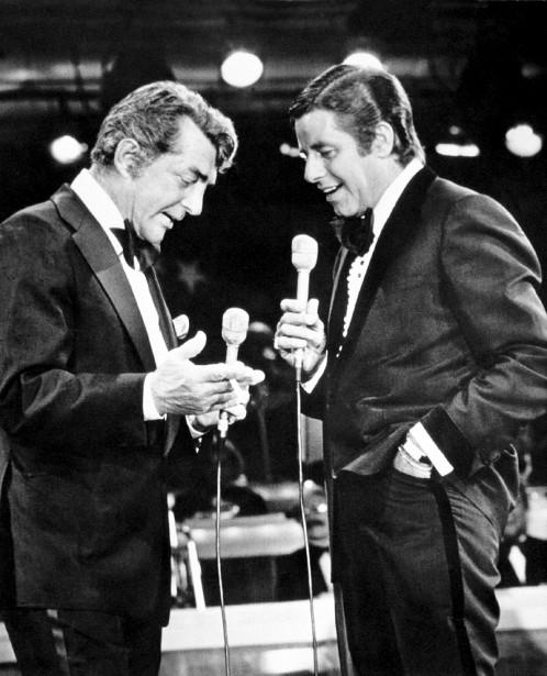 AvecDean Martin (à gauche), le 7 septembre 1976 (AP)