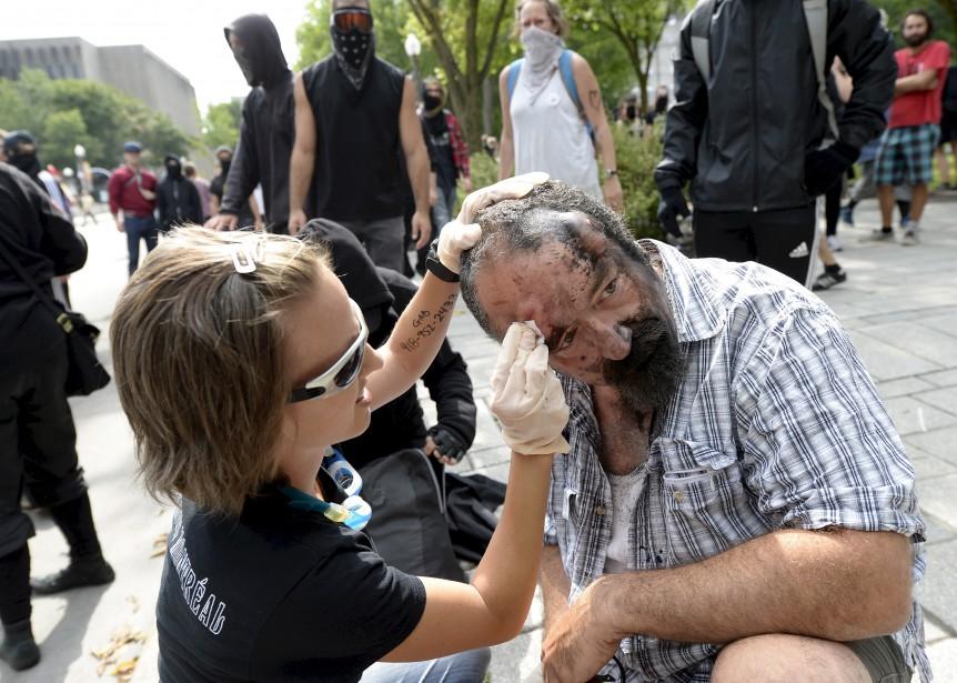 Un homme a été blessé dans la confrontation. | 20 août 2017