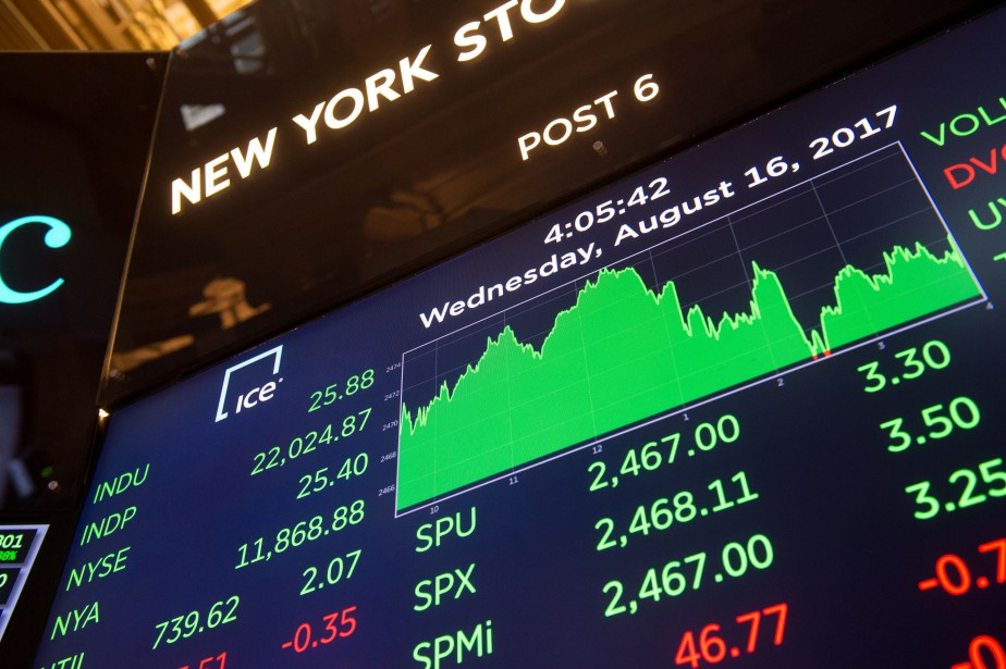 Vers 9h50, l'indice vedette Dow Jones Industrial Average... (Photo Bryan R. Smith, Agence France-Presse)