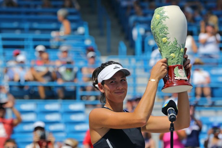 Garbine Muguruza a remporté le tournoi de Cincinnati,... (Photo Aaron Doster, USA Today Sports)