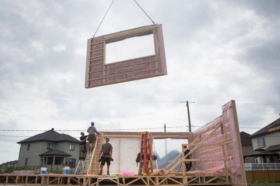 La construction d'une maison à toute épreuve... (PHOTO SIMON GIROUX, LA PRESSE)