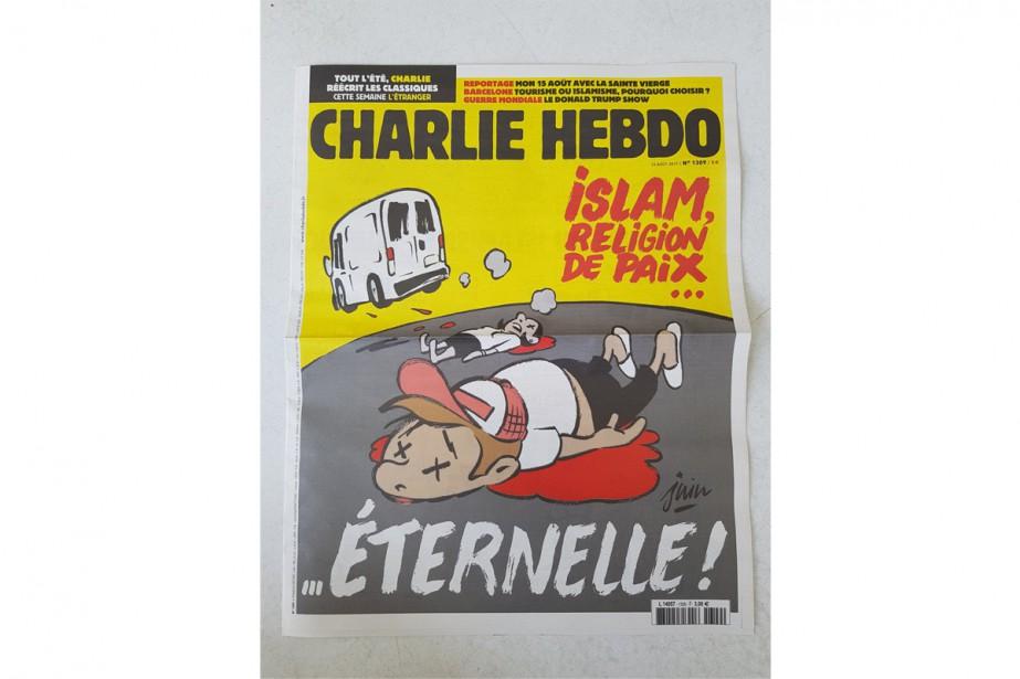 Les attentats de Barcelone ont inspiré l'hebdomadaire satiriqueCharlie... (PHOTO FOURNIE PAR CHARLIE HEBDO)