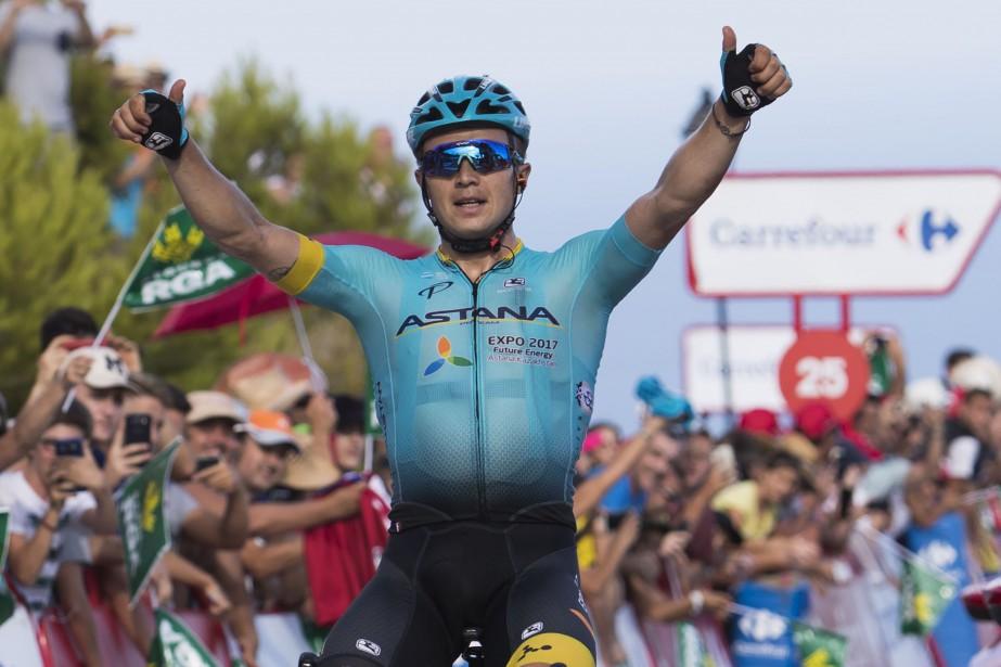 Le Kazakh Alexey Lutsenko a remporté la cinquième... (Photo Jaime Reina, AFP)