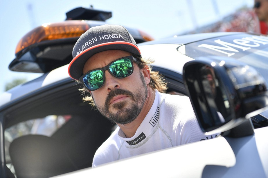 Spanish driver Fernando Alonso of McLaren-Honda is pictured...