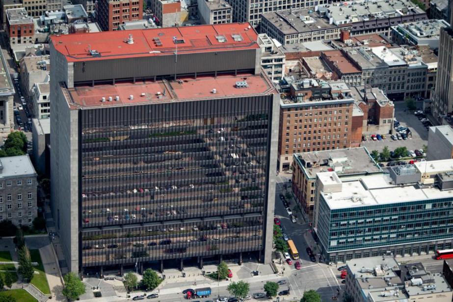 Vue aérienne du palais de justice de Montréal... (Photo David Boily, archives La Presse)