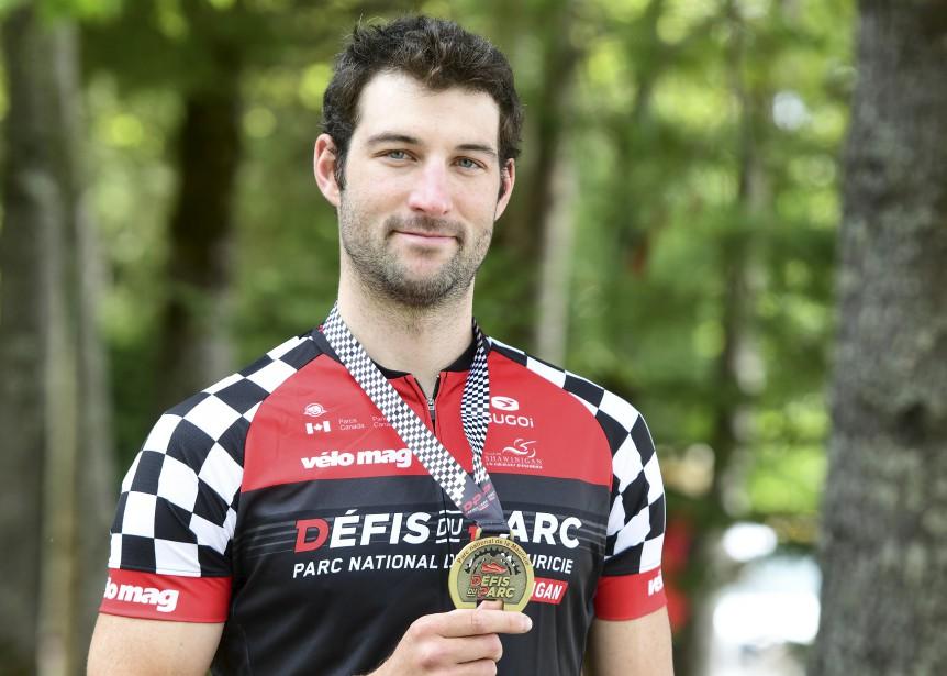 Les honneurs sont revenus pour une seconde fois en quelques années au Bécancourois Guillaume Fiset qui prenait part à l'épreuve de 145 km de vélo. | 27 août 2017