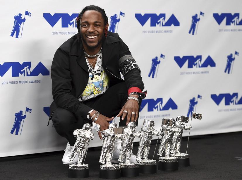 Le rappeur Kendrick Lamar a été le roi des MTV... | 2017-08-28 00:00:00.000