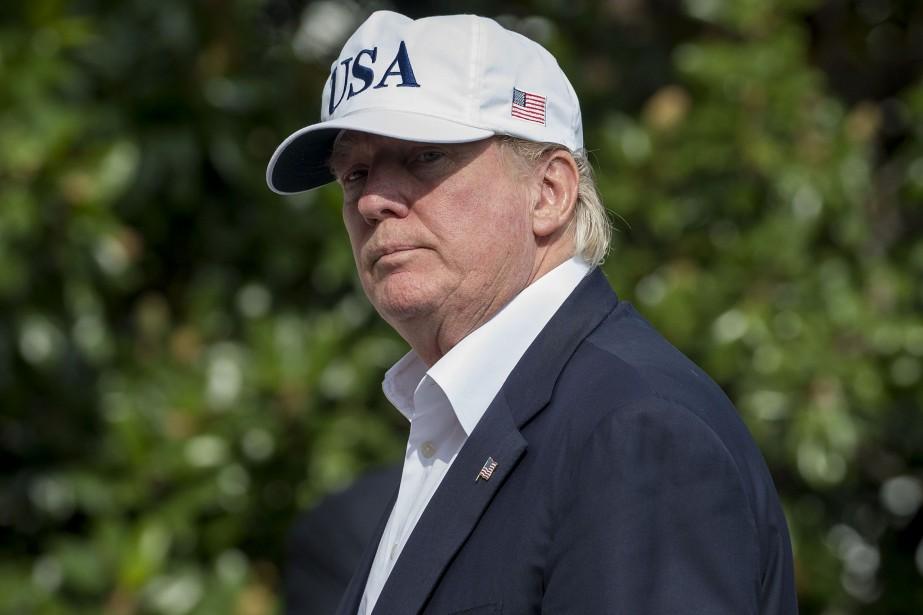 Le président Donald Trump est de retour à... (PHOTO AFP)