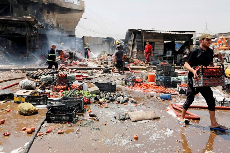 Une explosion mortelle a eu lieu au marché... (Photo Wissm al-Okili, REUTERS)