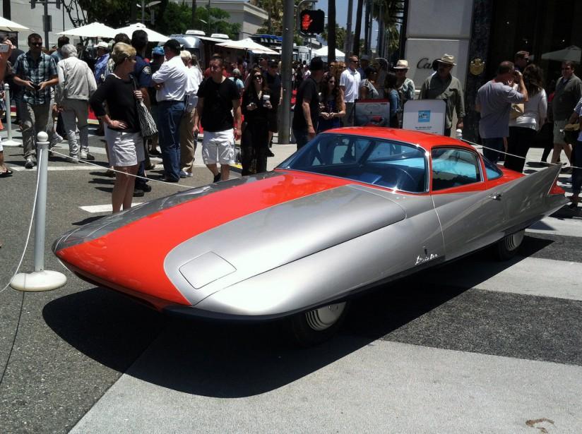 La Chrysler Ghia Gilda Streamline. Sa longue carrosserie fuselée s'inscrit pleinement dans la mode aérodynamique des années 50. (Photo: Flicker)
