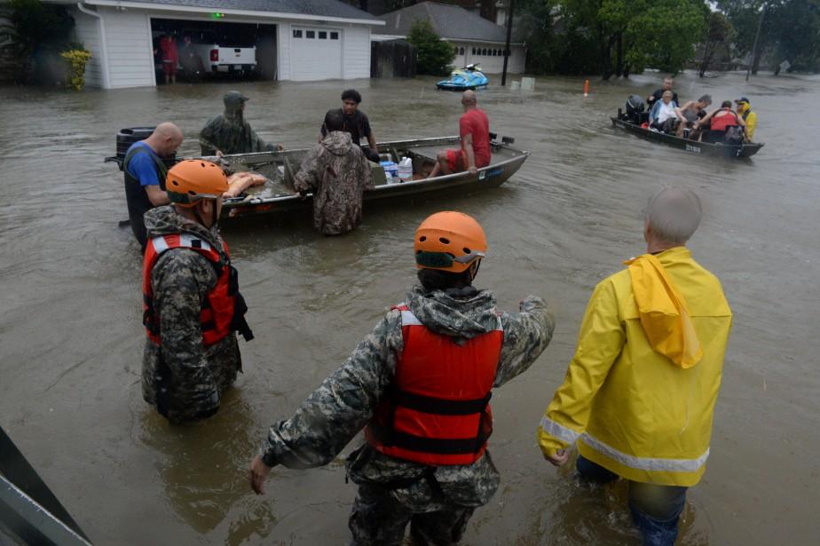 LeTexas est présentement dévasté par l'ouraganHarvey,qui amène inondations... (Photo Reuters)