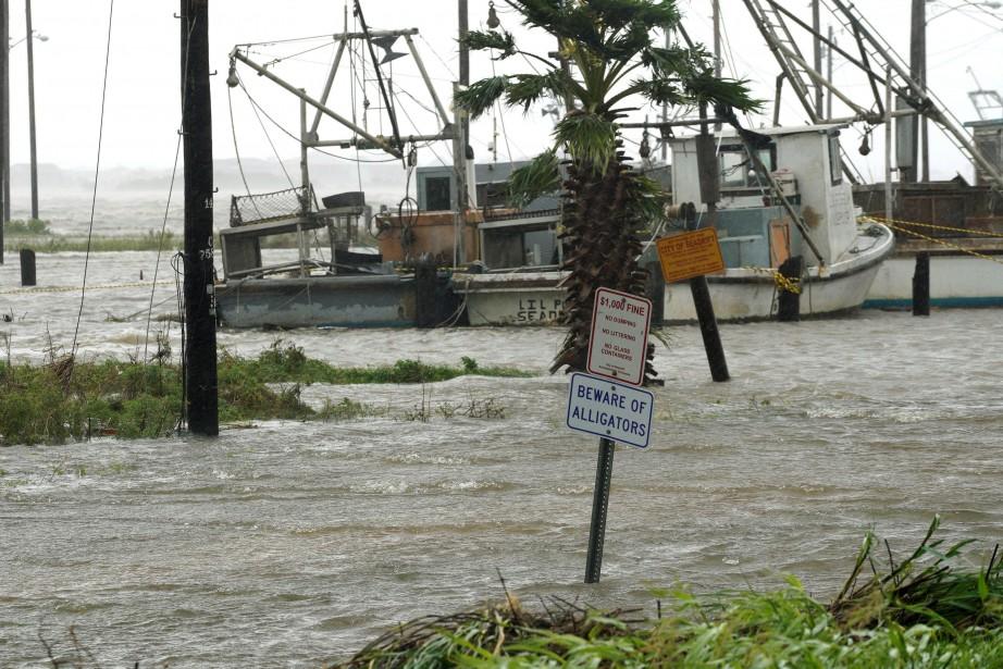 Un panneau routier dans la ville de Seadrift,... (PHOTO REUTERS)