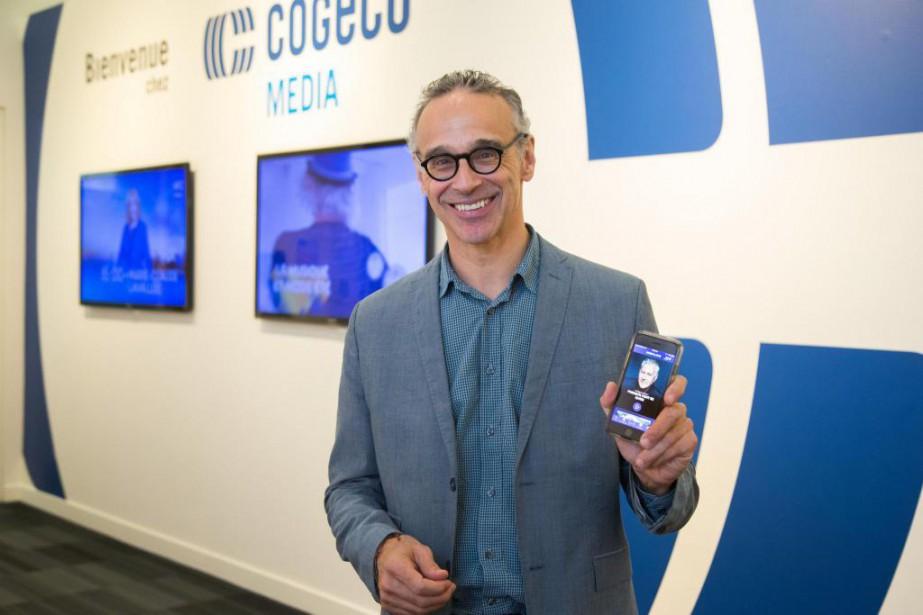 Luc Tremblay, vice-président, stratégie numérique, de Cogeco, présente... (PHOTO MARTIN TREMBLAY, LA PRESSE)