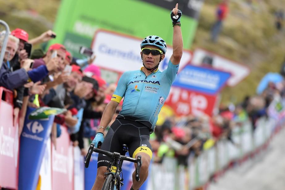 Le Colombien Miguel Angel Lopez a remporté la... (Photo Jose Jordan, AFP)