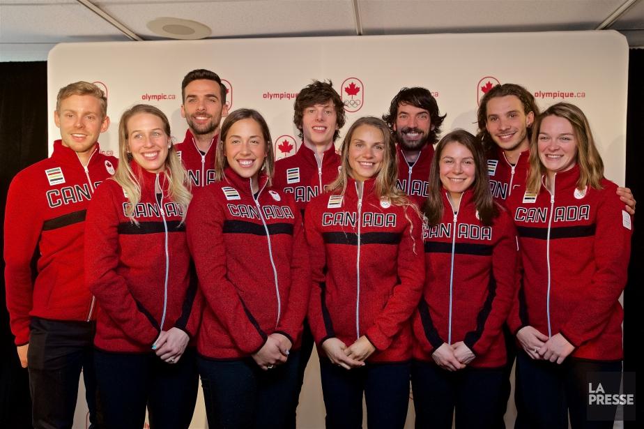 L'équipe canadienne de patinage de vitesse sur courte... (Photo André Pichette, La Presse)