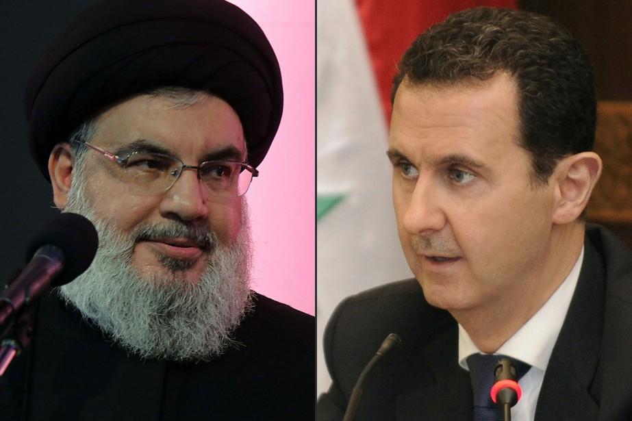 Hassan Nasrallah etBachar al-Assad... (AFP)
