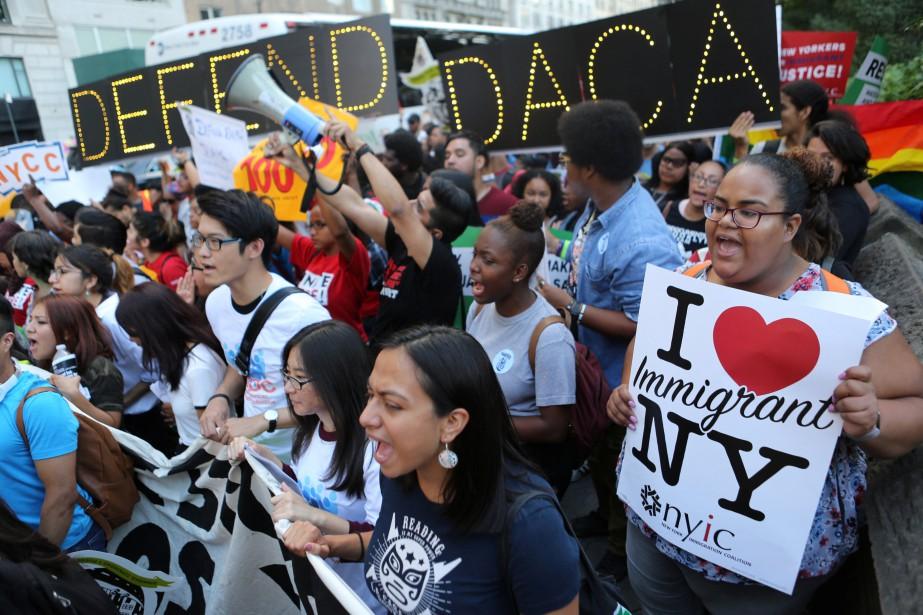 Une manifestation en faveur du programme DACA a... (PHOTO REUTERS)