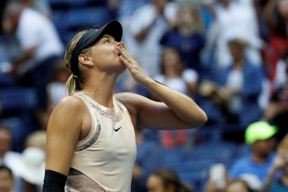 Maria Sharapova dispute à New York son premier... (PHOTO REUTERS)
