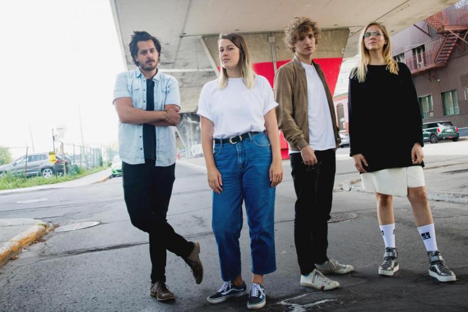 Matt Holubowski, Gabrielle Shonk, Aliocha et Lydia Képinski... (Photo Marco Campanozzi, La Presse)