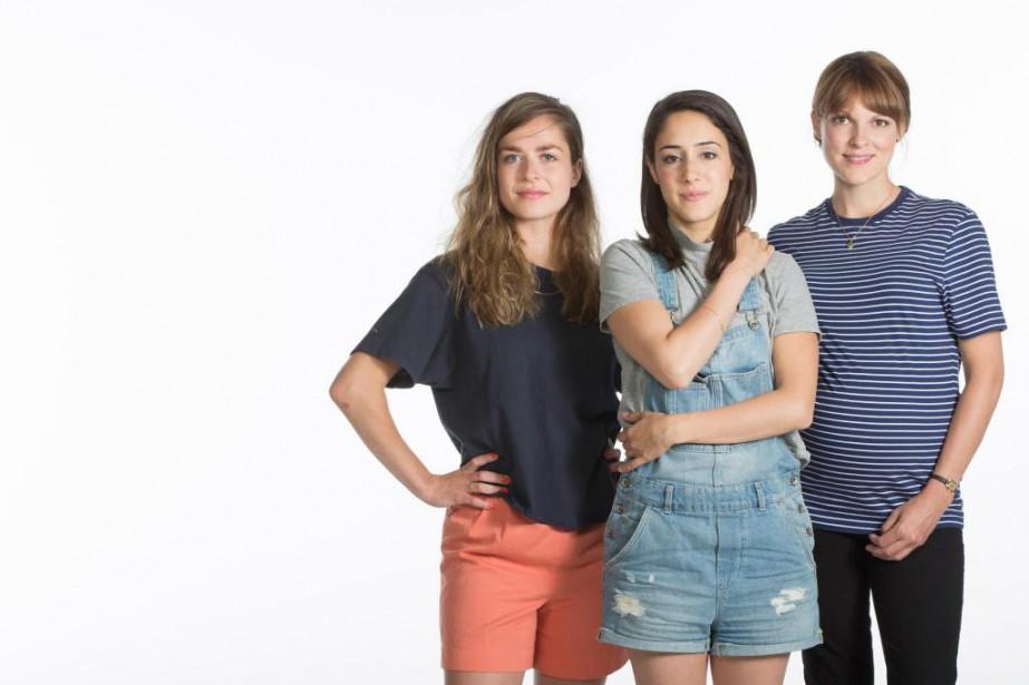 Les auteurs et comédiennes Rachel Graton, Nathalie Doummar... (Photo Ivanoh Demers, La Presse)