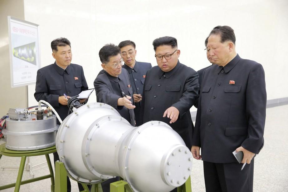 La Corée du Nord a affirmé dimanche avoir développé une bombe... (Photo Reuters)