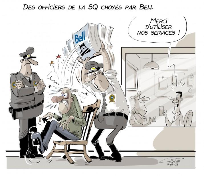 Caricature du 3 septembre (Le Soleil, André-Philippe Côté)